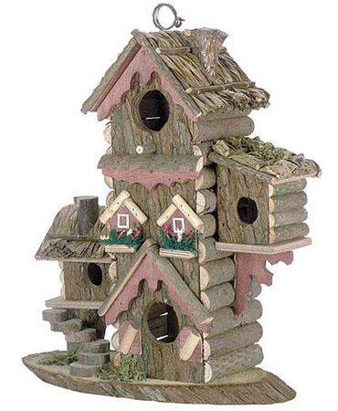 Gingerbread-style birdhouse.